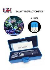 More details for salinity salt scale refractometer measure marine water test aquarium 0-100% uk