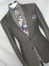 Hommes Luxe PAUL SMITH London Marron sur mesure le costume 40REG: W34 XL32