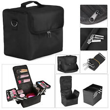Large Beauty Make Up Nail Tech Cosmetic Box Artist Vanity Case Storage Bag UK