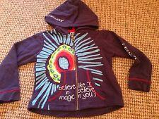 U2 BS Barcelona Blue Cardigan Hoodie Cotton Cool Motif Age 4 Designer Brand