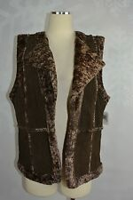 Live A Little LAL  Suede and Faux fur Vest    Size XL      NWT