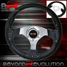 Universal Godsnow 6 Bolt 320mm Pvc Leather Carbon Fiber/Silver Steering Wheel
