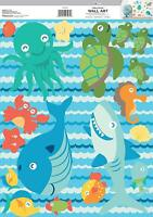 SEA LIFE 18 Wall Decals Octopus Whale Crab Turtle Shark Fish Room Decor Stickers