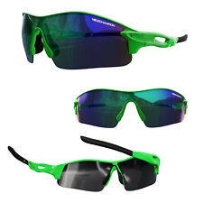 VeloChampion Warp Cycling Biker Sunglasses Outdoor Sports With 3 Lenses Green
