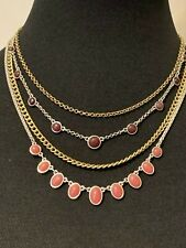 LUCKY BRAND Two-Tone Berry Lucky Layer Choker Necklace NWT $45 Fast Shipping!!