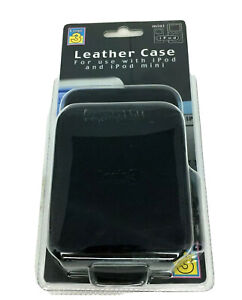 Logic 3 Black Leather Case For Ipod And Ipod Mini With Beltloop Brand New