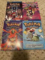 Lot of 4 Pokemon VizKids Paperback Books Diamond & Pearl Adventures Manga Lot