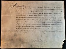 KING LOUIS XV SIGNED APPOINTMENT OF CAMP MARSHAL MARQUIS DE MONTEIL - 1761