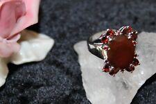 Silberring Edelsteinring Silber 925 Granat  Große-62 (19,7 mm)