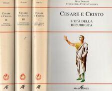 STORIA DELLA CIVILTA' CLASSICA CESARE E CRISTO W.DURANT ARABA FENICE 3 VOL.IA667