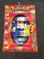 1999 Nintendo Scorpio Posters Pokemon Pocket Monsters Ash Pikachu Red  Poster