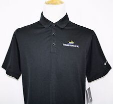 NWT Nike Golf Dri-Fit YUHUANG CHEMICAL INC Embroidered Polo Shirt Black Large