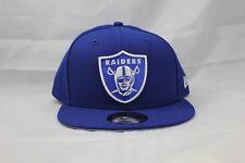 NEW ERA 9FIFTY  ADJUSTABLE SNAPBACK HAT.  NFL.  RAIDERS. BLUE