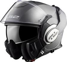Ls2 casco modular Ff399 Valiant titanio grigio mate m