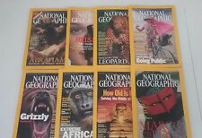 National Geographic Magazines, Lot of 8 Past Issues, 2001