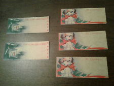 Set of 5 Antique Christmas Gift Tags - Never Used