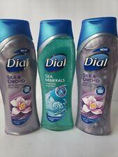 3 Dial Body Wash, 2 Silk & Orchid Moisturizing Body Wash & 1 Sea Minerals 16oz