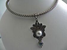 STELLER🌠 75g sterling silver BA 925 full HM 18k pendant choker collar necklace