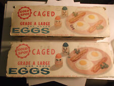 Lot of 2 vtg Riegel White Chief dubl-cushioned egg cartons w/plastic Easter eggs