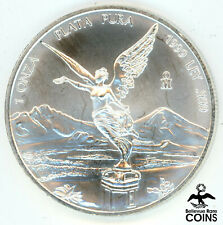 1999 Mexico .999 Fine Silver 1 Onza 'Libertad' 1oz Coin KM#63