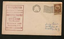 FRANKLIN D. ROOSEVELT INAUGURATION DAY UNKNOWN CACHET 3/4/1933 WASHINGTON DC