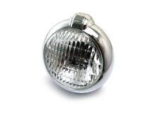 Classic Bates Style Motorbike Headlight Headlamp CHROME Retro Project BLEMISHED