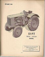 REVUE TECHNIQUE AUTOMOBILE 77 RTA 1952 TRACTEUR SIFT TD4 43CV DIESEL BOITE FORD