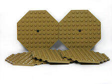 LEGO Large Plates Octagonal DARK TAN # 10x10 # pack of 5 # baseplate # NEW *