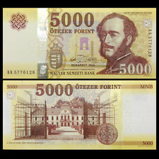Hungria Hungary 5000 5,000 Forint, 2016(2017), P-NEW,banknotes, UNC