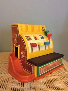 Vintage Fisher Price Toy Cash Register 1970s