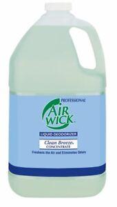 Professional Air Wick Liquid Deodorizer Concentrate, Clean Breeze, 1 gal