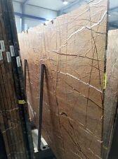 Tischplatte Marmor antik gebürstet Naturstein braun für Couchtisch Beistelltisch