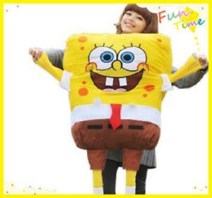 120cm SpongeBob SquarePants Yellow Sponge Soft Plush Doll Kids Large Gift Toy