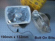 Rectangular Halogen Headlamps BEDFORD Midi Rascal Bambi Suzuki Super Carry HELLA