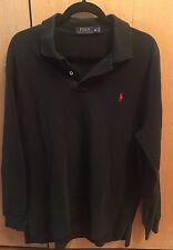 Men's Ralph Lauren Polo Long Sleeve Shirt Sz XL - Black