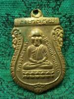 Phra LP Tuad LP Tim Wat Changhai Coin Talisman Pendant Thai Buddha Amulet