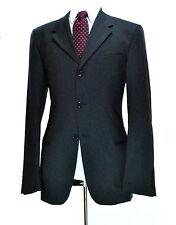 Dolce & Gabbana D&G Solid Slate Blue Jacket ~ 38R Small Wool Blazer Sport Coat