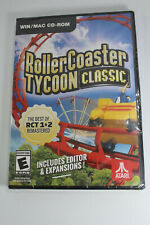 ROLLERCOASTER TYCOON CLASSIC PC CD Rom Video Game New and Sealed