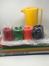 Vintage Ingrid Chicago Plastic Beverage Set - Tray, Pitcher and 4 Goblets