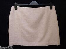 Ladies Pale Pink Boucle Short Wool Blend Skirt Size 14 16