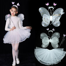 Fairy Costume Set with Wings Wand and Headband for Children Ages 3-10