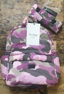 7 A.M. Voyage BK718 Diaper Bag Backpack, Camo Pink New/Unused