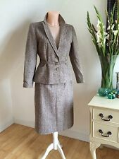 Vintage 70s no 40s traje de dos piezas falda de Peplum Chaqueta Wiggle Pinup de 12