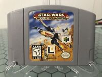 Star Wars Rogue Squadron - Authentic N64 Nintendo 64 Game Tested Works Cleaned