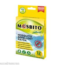 Mosbito Natural Mosquito Repellent Patch - Pack of 12 Patches