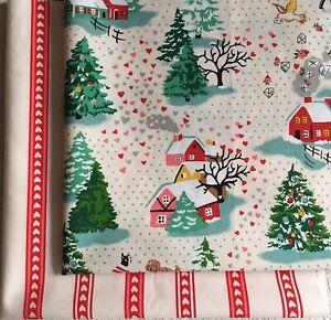 Shine Bright Christmas & Heart Stripe Cath Kidston Bundle 2 * FQ 50cm Square new