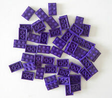 LEGO NEW BULK LOT OF 50 2X3 MEDIUM DARK PURPLE LAVENDAR FLAT PLATE / PLATES