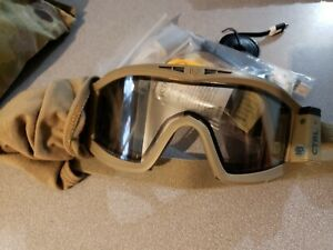 CTRL E-tint goggles mg09-tan with multicam cover and spare clear lense