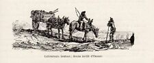 OZANNE CULTIVATEURS BRETONS IMAGE 1885 OLD PRINT