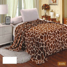 Giraffe Animal Print Blanket Bedding Throw Fleece King Super Soft